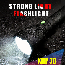 HONGTAIYANG Strong light LED multi-function searchlight 3800Lumens flashlight XPH waterproof camping searchlight