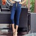 Plus Size Pants Summer Hot Seven Slim Waisted Retro Female 7  Pencil Pants High Waist Jeans Women Jeans 165