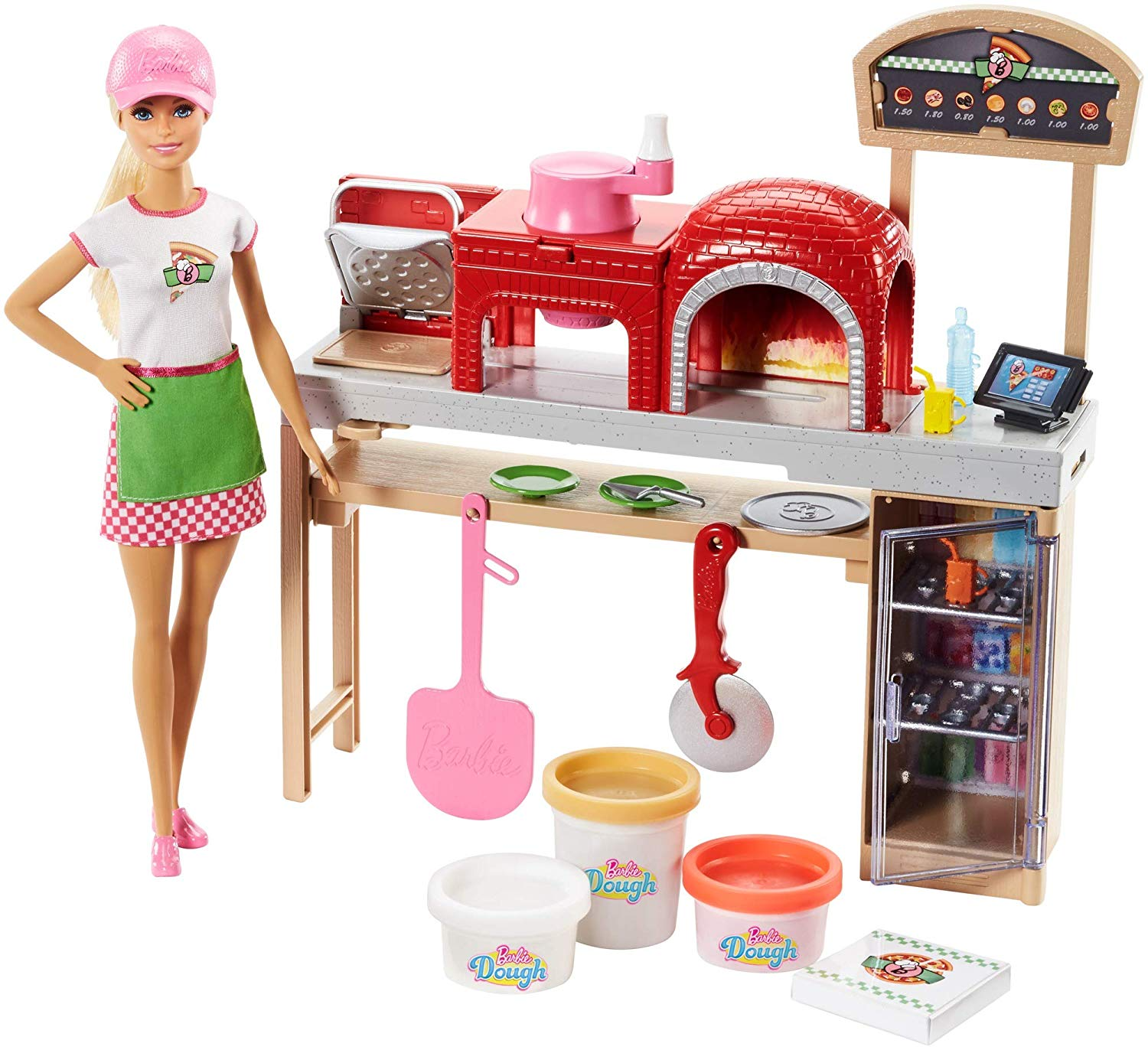 Barbie Pizza CHef Doll Blonde /& Play set.