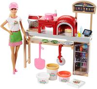 Original Barbie Doll Blonde Pizza Chef and Playset Furnitures Career Toys for Girls Doll House Accessories Genuine Barbie Dolls