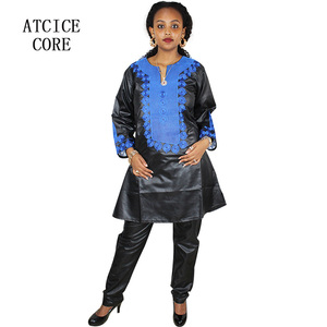 Image 3 - african dresses for woman soft material embroidery design dress LB046