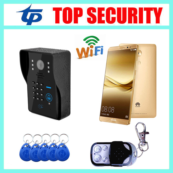 Здесь продается  Good quality mobile wifi video door phone door bell RFID card remote control door access control wireless video door phone  Безопасность и защита
