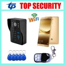 Хорошее качество мобильный wi-fi видео-телефон двери дверной звонок RFID карты дистанционного управления двери контроля доступа беспроводной видео-телефон двери