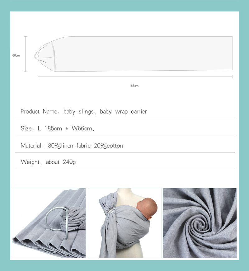 Detail Feedback Questions About Baby Ring Sling Carrier Lightweight