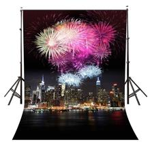 150x220cm Brilliant Fireworks Backdrop Brilliant Fireworks City Night View Photography Background and Studio Backdrop цена