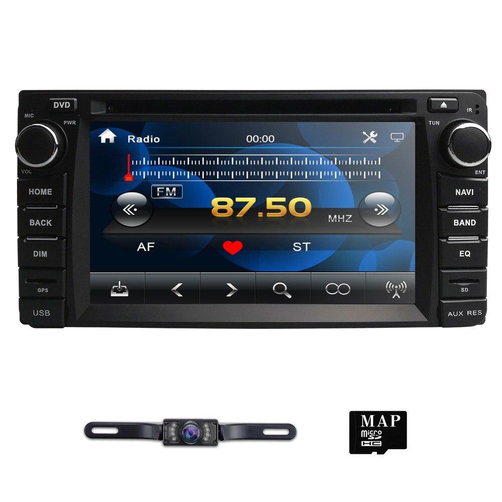 Lecteur CD DVD voiture pour Toyota Corolla Auris Fortuner Estima vios Innova RAV4 Prado Vios Hilux Vitz gps navigation miroir lien DAB
