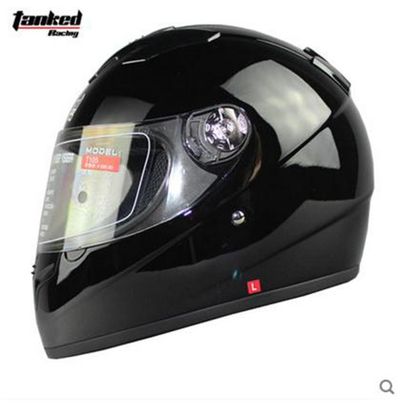 ФОТО 2016 Hot Sale Tanked racing T105 Full Face Motorcycle Helmet Casque Moto Casco De Motocicleta With Removable Collar M L XL size
