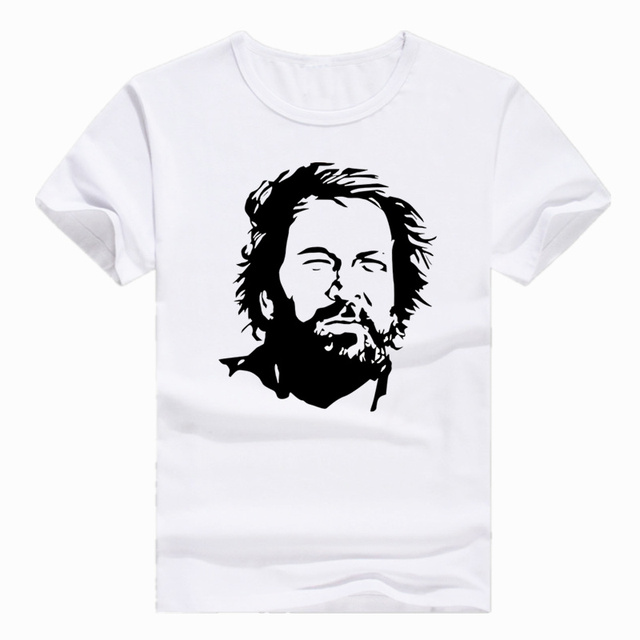 e717fd91af Asian Size Print Star BUD SPENCER T-shirt Short sleeve Summer Casual O-Neck  T shirt For Men HCP4406