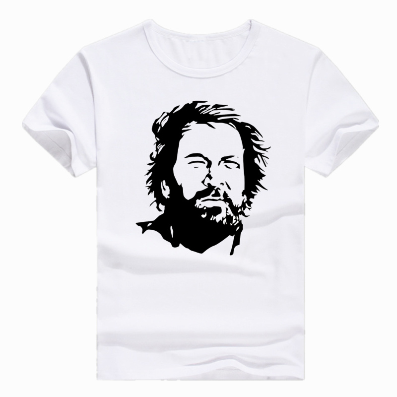 Asian Size Print Star BUD SPENCER   T  -  shirt   Short sleeve Summer Casual O-Neck   T     shirt   For Men HCP4406