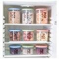 3 teile/satz küche lagerung tank kunststoff lebensmittel kanister transparent snack kanister sammlung box-in Speicherflaschen & Gläser aus Heim und Garten bei