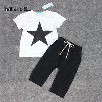 MEIL Baby Boy ClothesThe New 2017 Baby Stars Dress With Short Sleeves Cotton Summer Two Piece