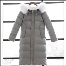 New White Duck Down Winter Coat Women's Slim Long Coats Overcoat Winter Jacket Plus Size Thick Down Parkas Korean women clothing