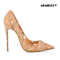 Zapatos de tacón alto Stiletto puntiagudos de Mujer Zapatos de retazos de malla transpirable bombas tamaño US 4 15,5 zapatos personalizados hechos a mano
