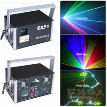 Hot sale dj laser lights 3000mw full coor rgb animation stage disco party laser show system(China)