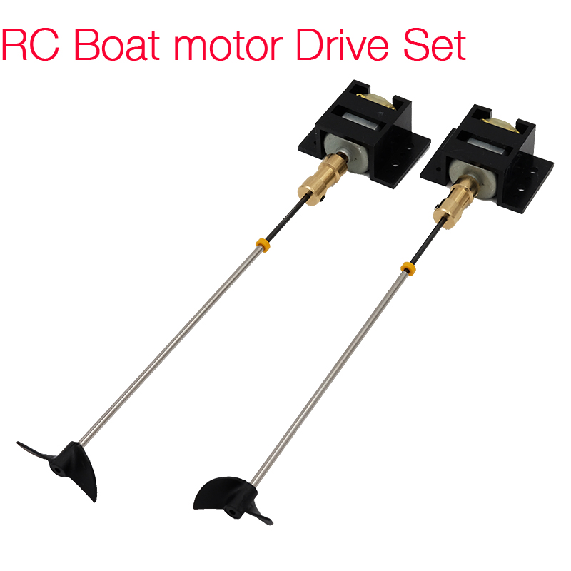 2 Sets RC Boat motor Drive Set 130 Motor+Motor Seat+Copper Coupling+15cm Shaft+Propellers Kit For DIY RC Model Boat Ship цена