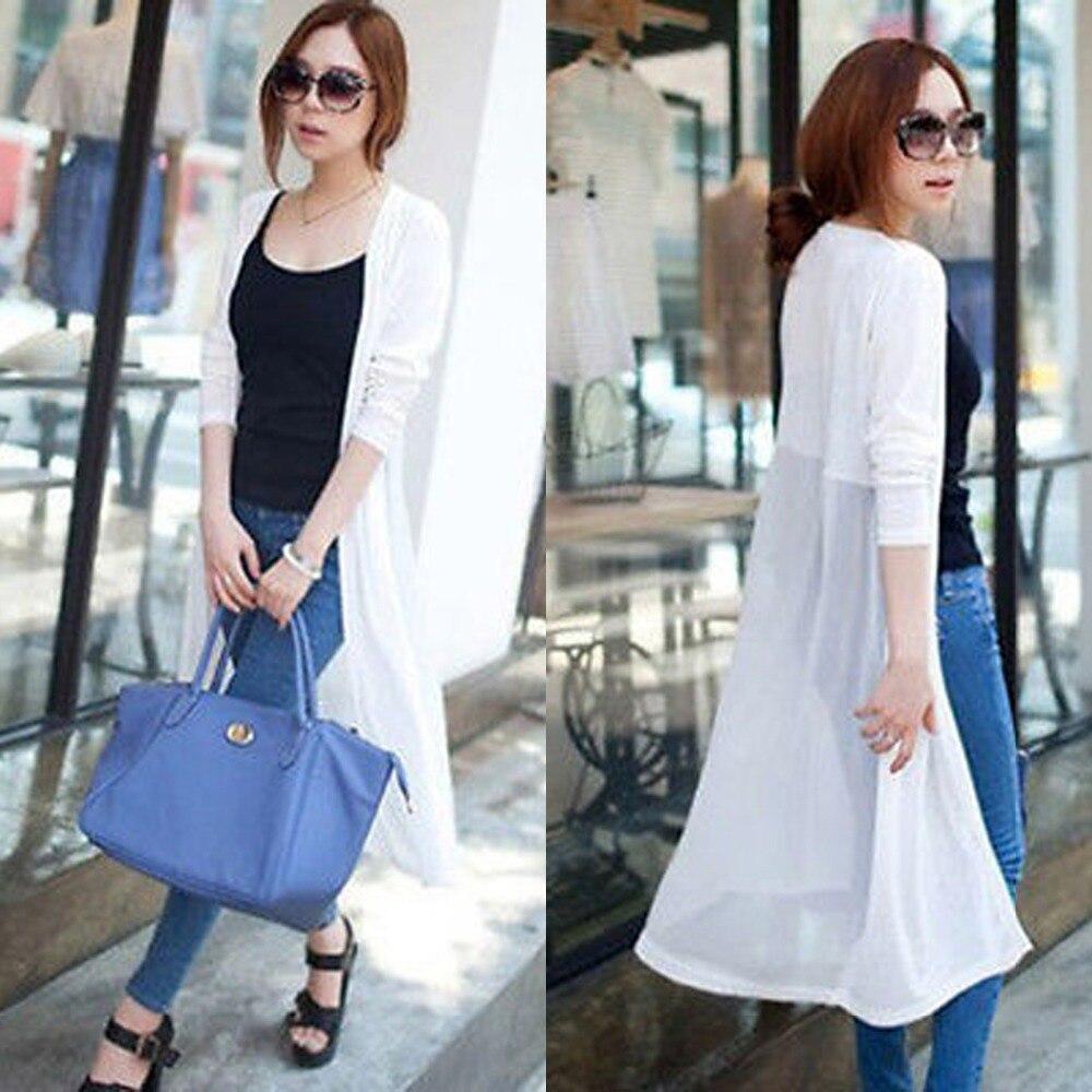 2015 Fashion Spring Summer Women's Long Maxi Cardigan Coat Jacket ...