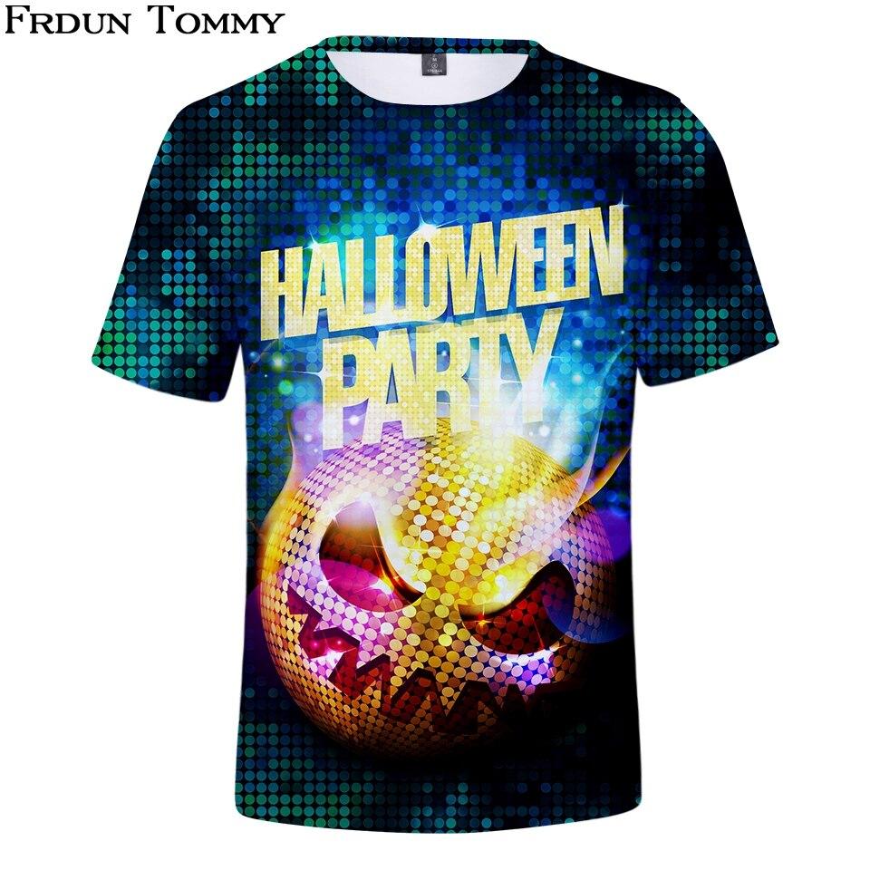 Frdun Tommy Halloween-3D T-Shirt Short Sleeve Fashion Popular Hot Sale T Shirt Summer Women/Men Clothes Kpop Shirt Plus Size