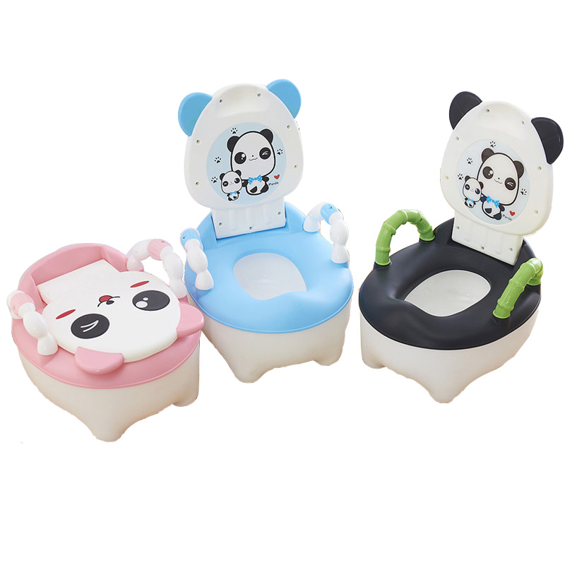 Children Cartoon Cow Toilet Trainer Chair with Lid Blue//Pink Baby Potty Toilet Kids Toilet Training Seat with Cushion Ring