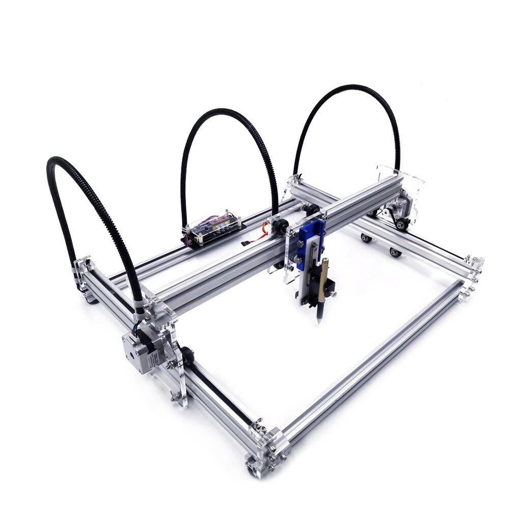 DIY Laser Máquina De Escrita 30*38 CM Desenho Máquina Lettering Kit Robô Com 500 MW/2500 MW/ 5500 MW/Laser de 15 W