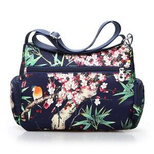 Image 3 - Сельский Стиль Цветочная сумка через плечо для женщин 2020 цветочный принт сумки через плечо легкий больше молнии сумка мессенджер