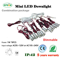 9pcs led cabinet mini 1W spot light for decoration 120D degree 15mm cut out with dimmable driver