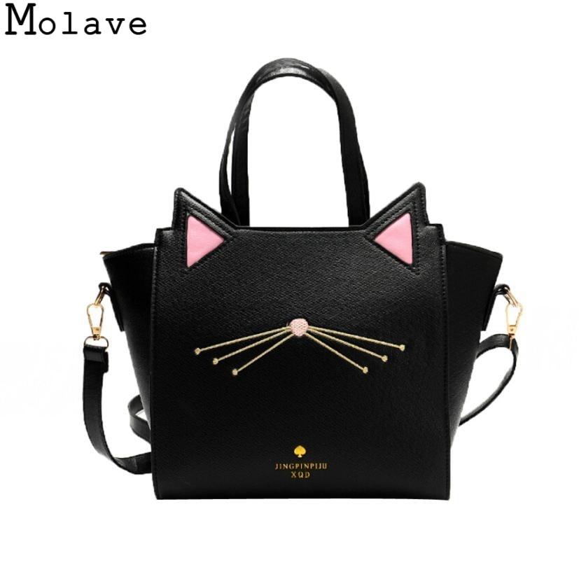 Molave tote bag Large Capacity leather tote bags Women's Cat Ear Messenger Bag handbags Nov23 сумка aquapac 053 trailproof tote bag large
