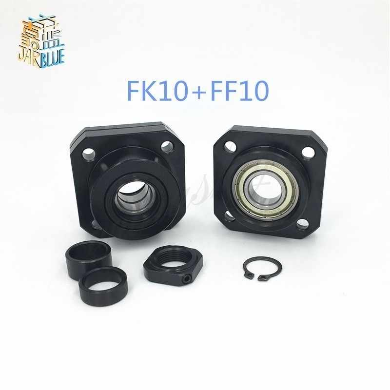 SFU1204 Ballscrew Support 1pcs FK10 and 1pcs FF10 for 12mm 1204 ballscrew end support cnc