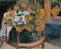 landscape canvas painting scenery picture impressionism masterpiece poster art The Sunflowers By Paul Gauguin