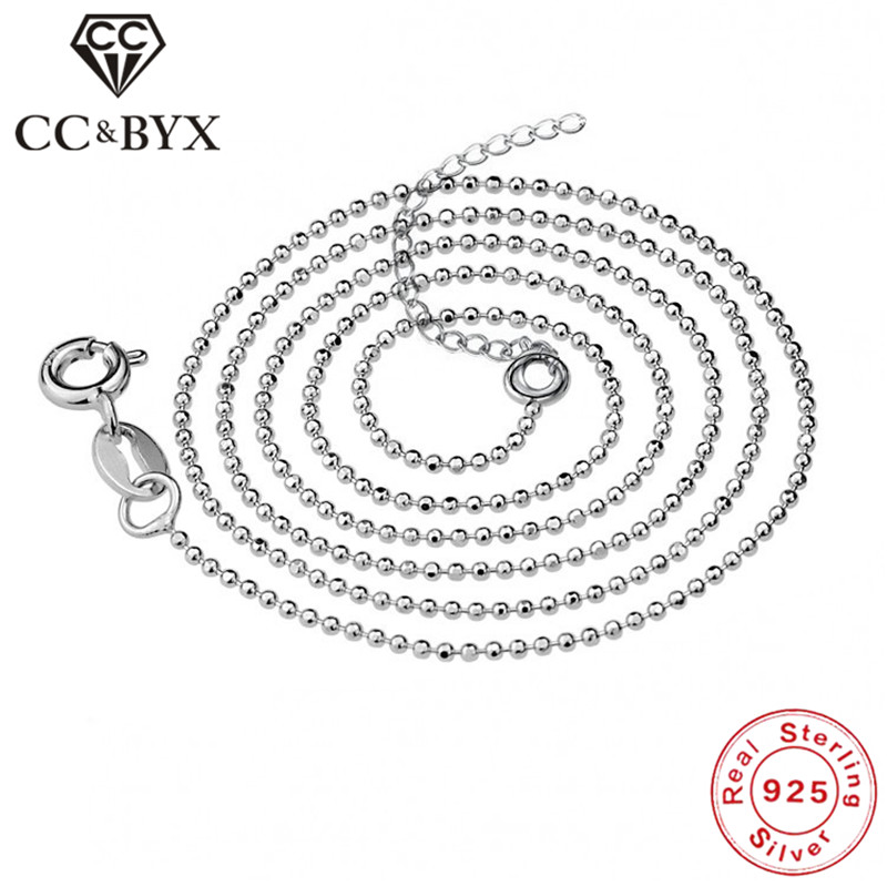 CC Real 925 Sterling Silver Collana Donna Argento Chain Necklace Women Trendy Jewellery Chocker Necklaces Accessory Bijoux L-10