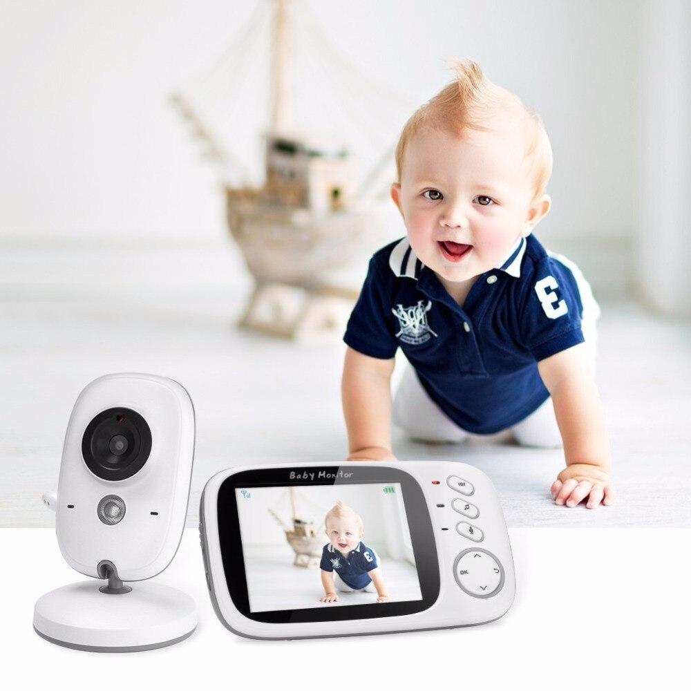 Babykam wireless baby monitor for newborns 3.2 inch LCD IR Night Vision Intercom Lullabies Temperature Sensor baby monitor audio