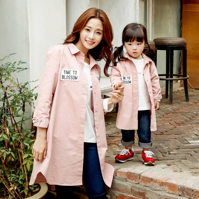 Family Matching Casual Long Mother Daughter Son Blouse Clothing Mom and Daughter Clothes Family Clothing Parent-Child Set NS27