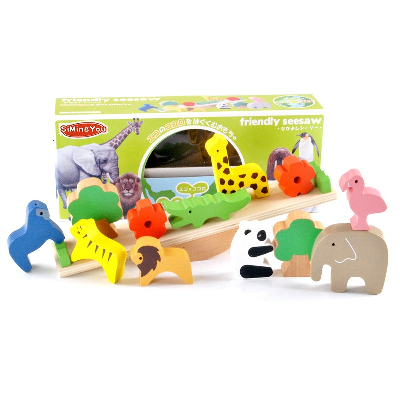 Simingyou-New-Wooden-Toys-Forest-Animals-Seesaw-Balance-Beam-Puzzles-For-Children-Kids-Jjigsaw-Puzzles