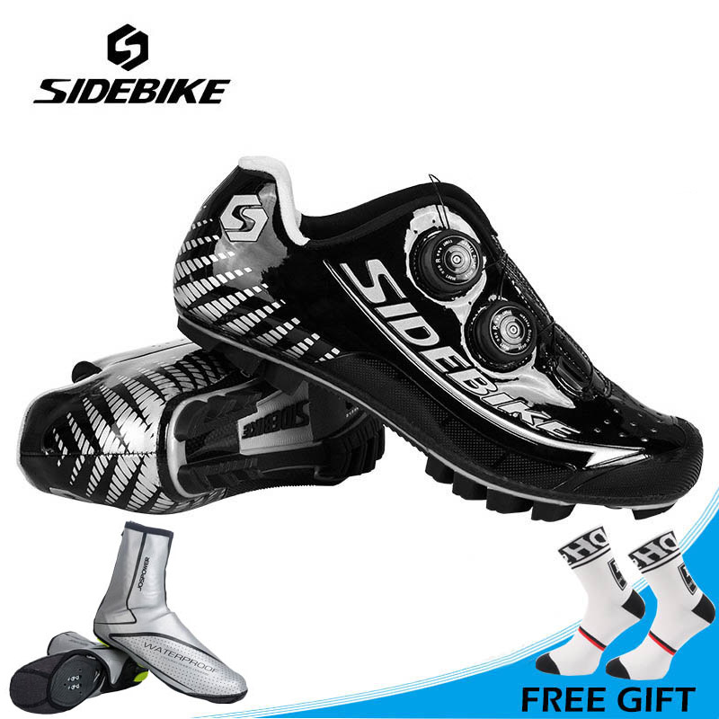 SIDEBIKE Professional MTB Carbon Shoes Ultrlight Mountain Bike Shoes Auto-lock Waterproof Cycling Shoes Zapatillas Ciclismo sidebike men mtb cycling shoes mountain bike bicycle shoes athletic cycle shoes auto lock zapatillas ciclismo sapatilha