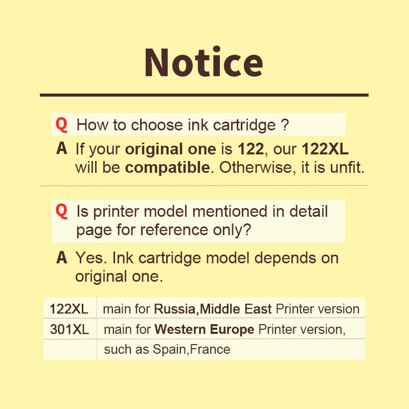 Hwdid 122XL Hitam Diisi Ulang Kartrid Pengganti untuk HP 122 XL untuk DESKJET 1000 1050 1050A 2000 2050 2050A 2540 3000 3050A 3052A