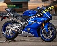 Лидер продаж, новое тело комплект для Yamaha YZF600 R6 2017 2018 YZF R6 17 18 синий ABS кузовов мотоцикл обтекатель комплект (инъекции литье)