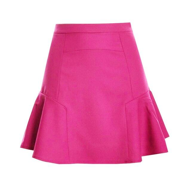 03feb889c35ff S-XXL Autumn Short Skirt Chiffon Fishtail Skirt High Waist Pleated Skirt