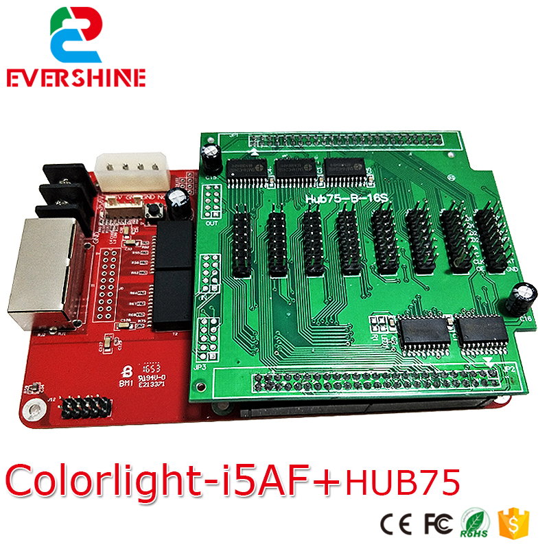 I5A-F dual mode full color card RGB asynchronous & synchronous led control card+HUB75B for video advertising led media display ds701 linsn led control card dual color board control card 100
