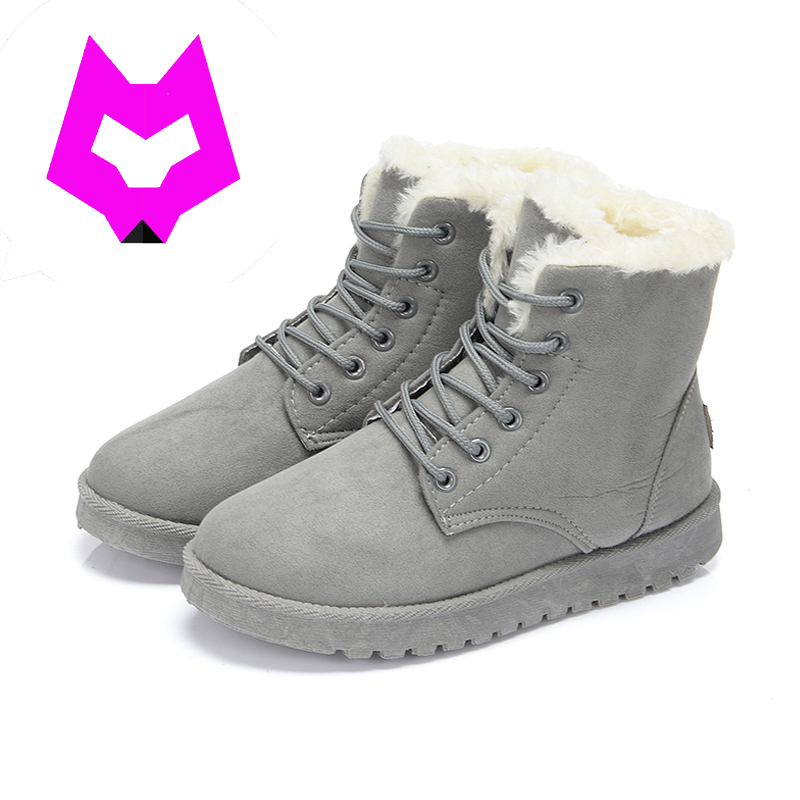 YtracyGold 9 Colors Women Winter Boots Suede Ankle Snow Boots Female Warm Fur Plush Insole Cotton Shoe High Quality Botas Mujer 2017 new fashion women winter boots classic suede ankle snow boots female warm fur plush insole high quality botas mujer lace up