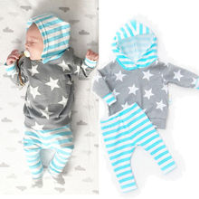 Newborn Baby Girl Boys Clothes Hooded Tops Shirt+Pants Leggings 2pcs Outfits Set