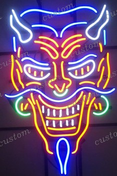 Custom Devil Glass Neon Light Sign Beer Bar