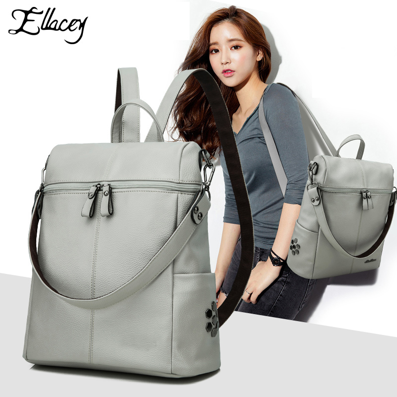 2016 NEW Fashion Backpack Retro And Vintage Backpack Students School Bag Female Women Backpack Leather Women