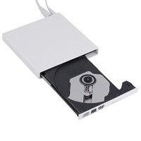 Nouveau Blanc USB 2.0 Externe CD +-RW DVD +-RW DVD-RAM Graveur Lecteur Pour Ordinateur Portable PC en gros Drop Shipping
