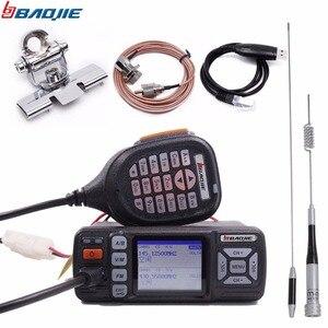 Image 1 - Baojie BJ 318 Mini Vehicle Mount Car Radio Station 256CH 10km 25W Dual Band VHF/UHF Mobile Radio Transceiver Upgrade of BJ 218
