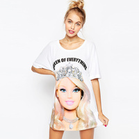 Harajuku New Women S T Shirt Cartoon Barbie Girl Camouflage 3d Print Tshirts Women Cute Summer