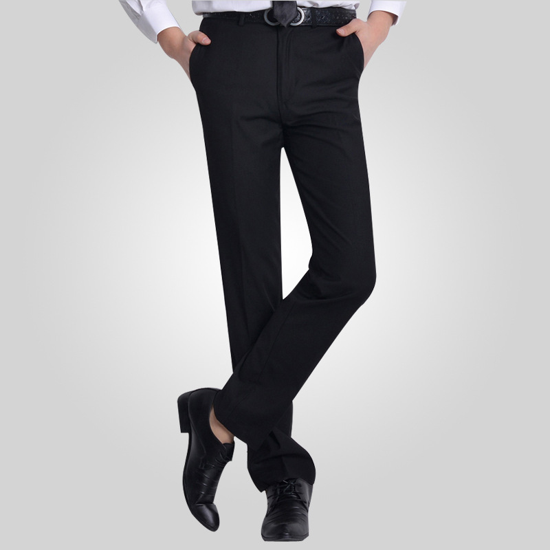 Plus Size29 40 Wrinkle Free Wedding Black Mens Formal Pants Office Workwear Casual Men Suit Slim Fashion Business Trousers In From S
