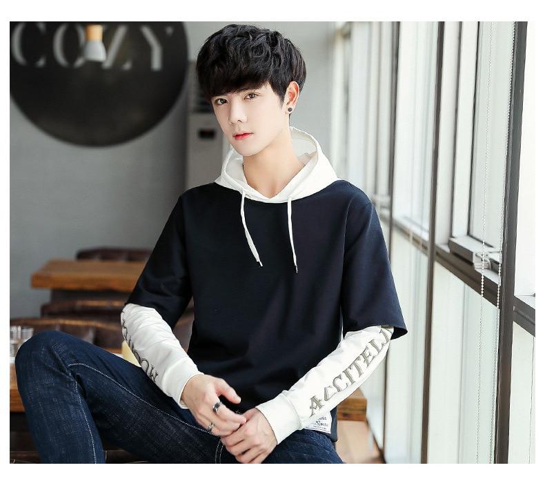 Japonais hommes de porter 2018 à capuche pour hommes portent de nouveaux Coréenne style à capuche pour hommes