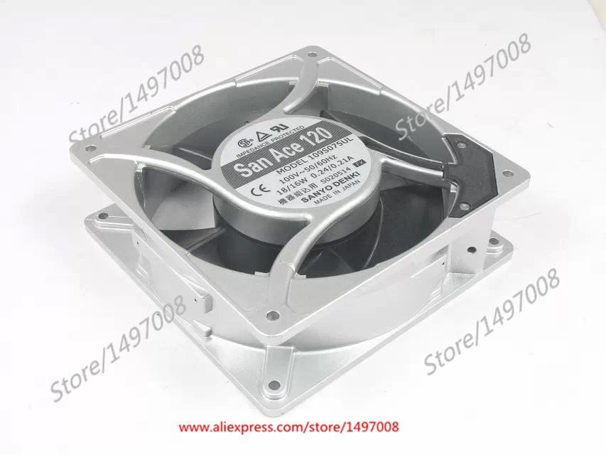 Free Shipping For SANYO  109S075UL  AC 220/240V 0.10/0.12A 3-pin 120x120x38mm Server Square fan free shipping for adda aa8382hb aw s ac 220 240v 0 07 0 06a 2 pin 80x80x38mm server square fan free shipping