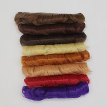5 cm High Temperature Heat Resistant Doll Hair for 1/3 1/4 1/6 BJD Diy Curly Doll Wigs For Doll Bangs russian handmade doll hair 20 cm high temperature wavy hair for 1 3 1 4 1 6 bjd diy curly doll wigs tree