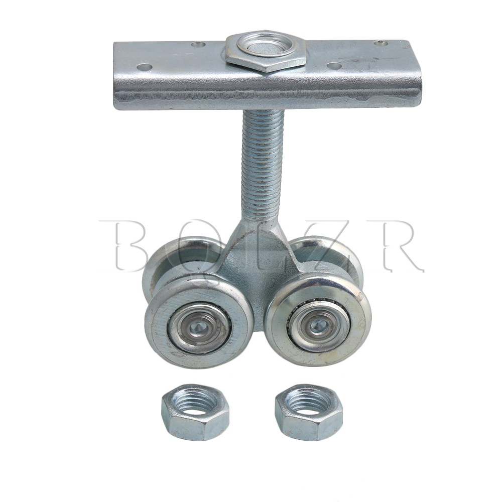 BQLZR Dia 54.3mm Steel Rail Hanging Trolley Wheel Sliding Track Roller Load-bearing 90kg w/Nuts H5 for Barn Door Home Hardware bqlzr silver steel rail hanging trolley wheel sliding track roller load bearing 90kg w nut h3 1 for barn door home hardware