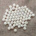 Imitación Perla simulada perlas perlas pendientes hallazgos separadores pulsera recta holesmobile Caso Calcomanías diy decoración nupcial